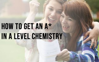 Students celebrating achieving an A* in A Level chemistry