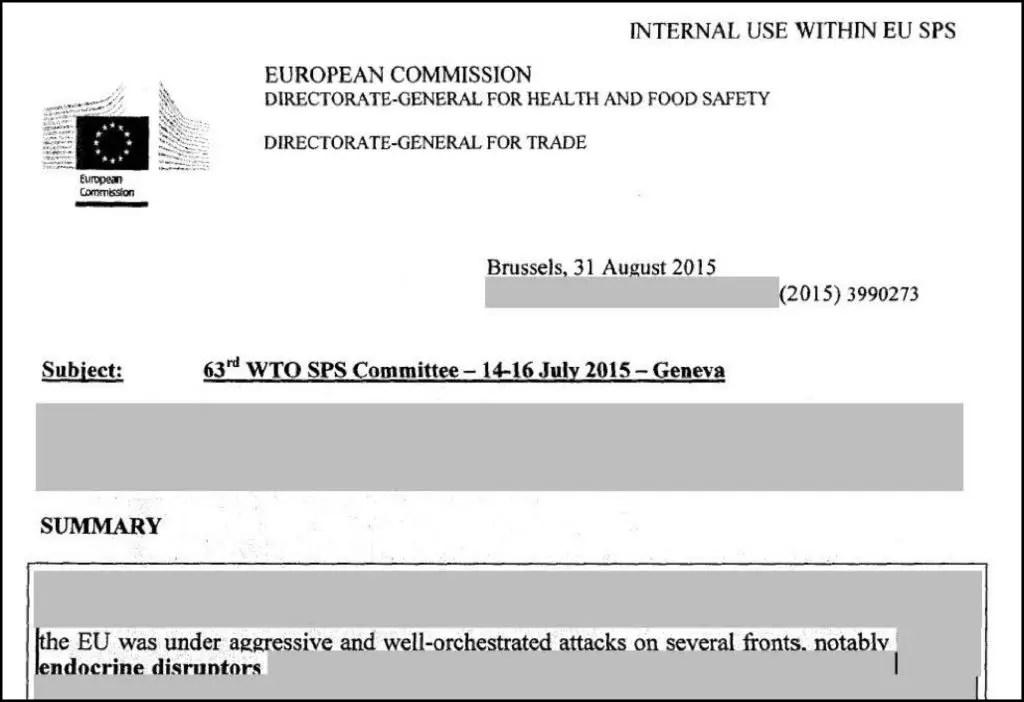 European Commission notes on WTO EDC