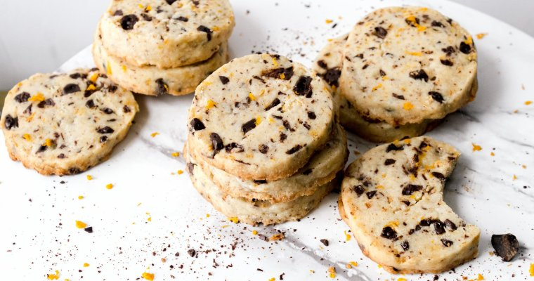Chocolate Orange Shortbread Cookies