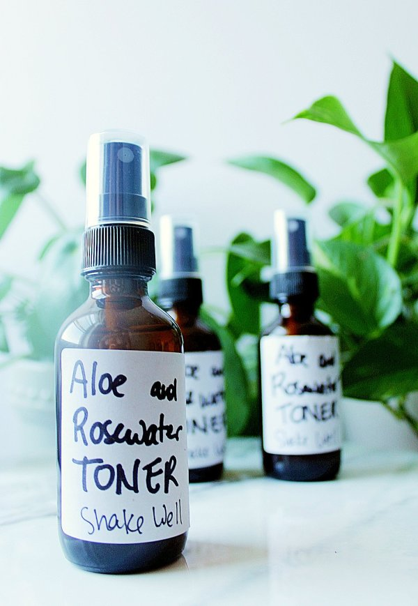 aloe and rosewater toner