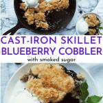 skillet blueberry cobbler recipe