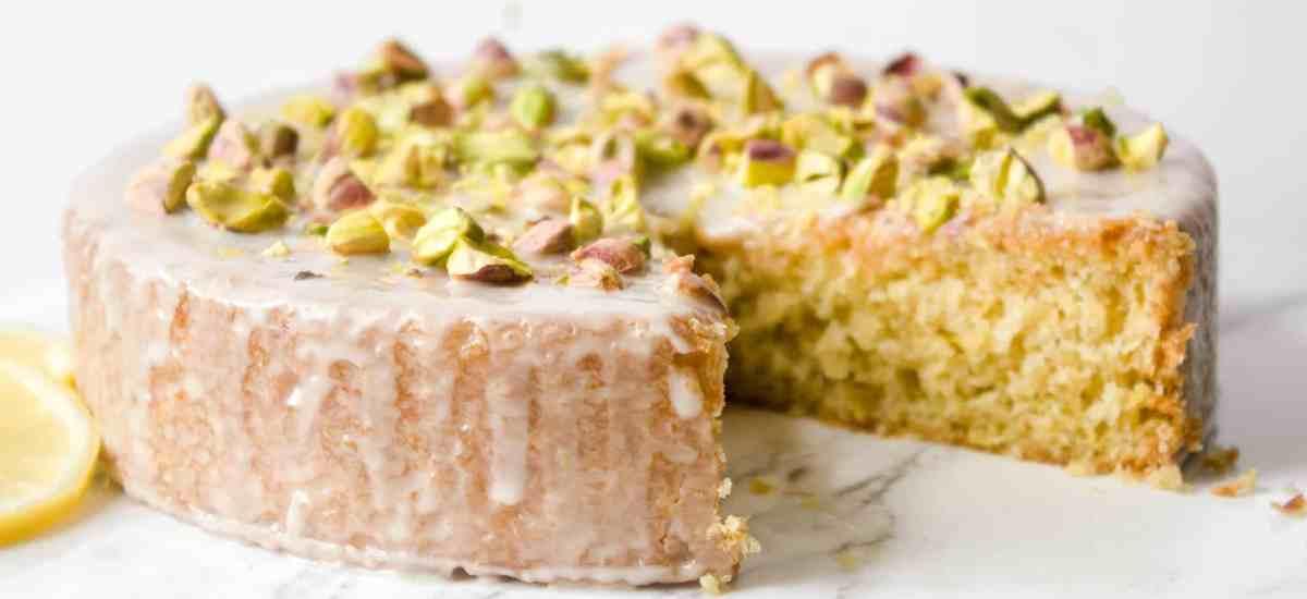 Vegan Lemon-Pistachio Olive Oil Cake