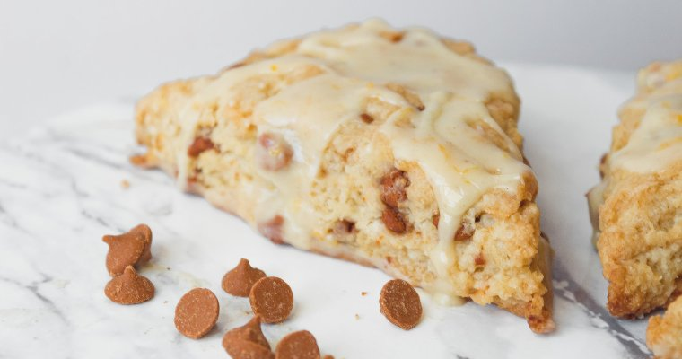 Cinnamon Scones with Spiced Orange Glaze