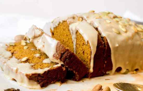 Pumpkin Bread with Maple Brown Butter Glaze