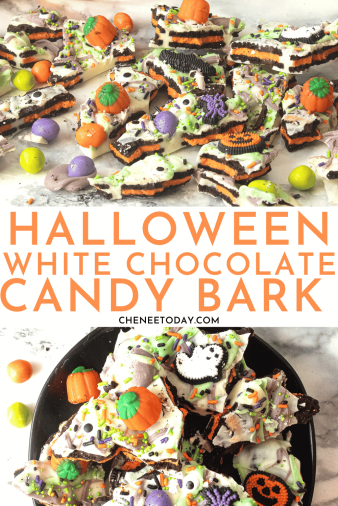 Easy Halloween Candy Bark with Oreo and White Chocolate | Chenée Today