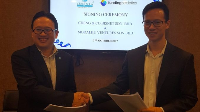 Tom Wong, CEO of Cheng & Co with Kah Meng Wong, CEO of Funding Societies