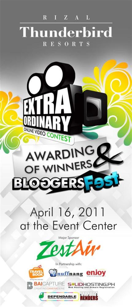 Extraordinary Online Video Contest Awarding & Bloggers Fest At Thunderbird Resorts Rizal