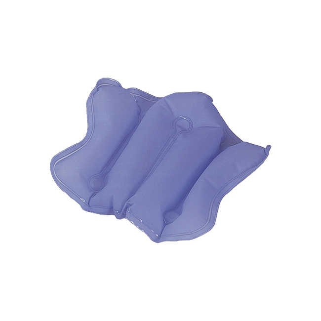 inflatable bath pillow, allows you to fully relax while enjoying a nice bath. Available with or without suction cups.