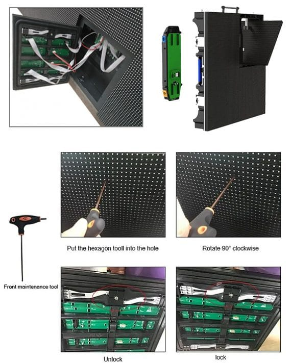 Front service LED displays