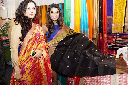 Models diplaying Saree