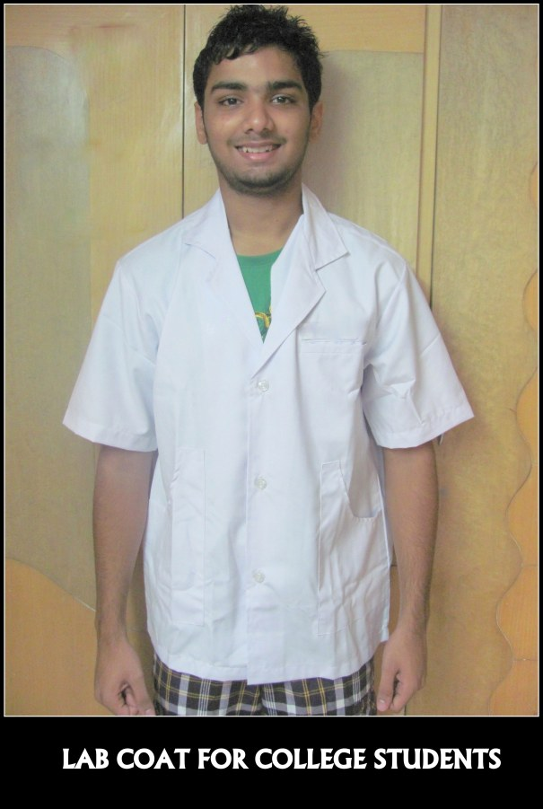 Lab coat made for a reputed college in Chennai