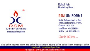 RSM Uniforms - Address