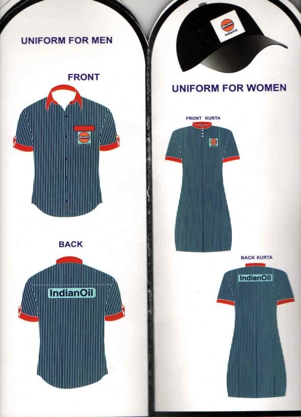 indian Oil Uniform pattern