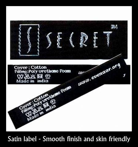 Satin label supplier in Chennai