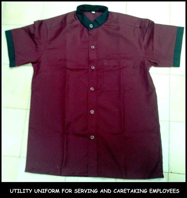 Uniform Shirt - Chinese collar with big buttons