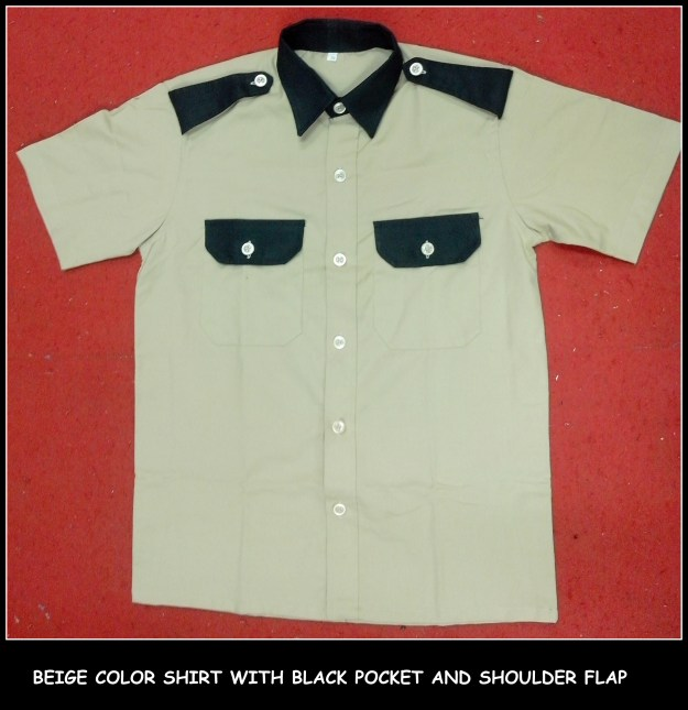 Uniform shirts for drivers, security guards and housekeeping staffs
