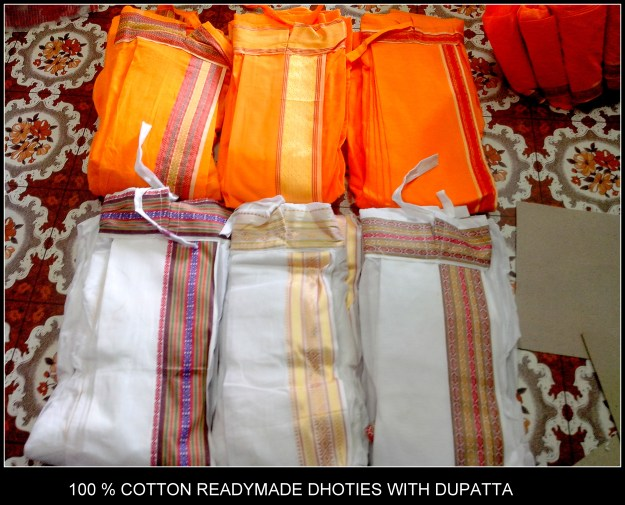 100 % Cotton readymade dhoties to suit all the occasions