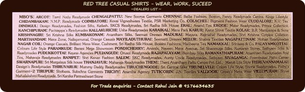 Redtree - Branded casual shirts dealers in Tamilnadu
