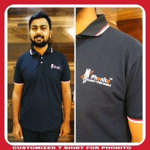 Black customized T shirt supplier in Chennai