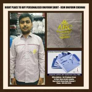Personalised Uniform Shirt in Chennai- RSM Uniforms Chennai