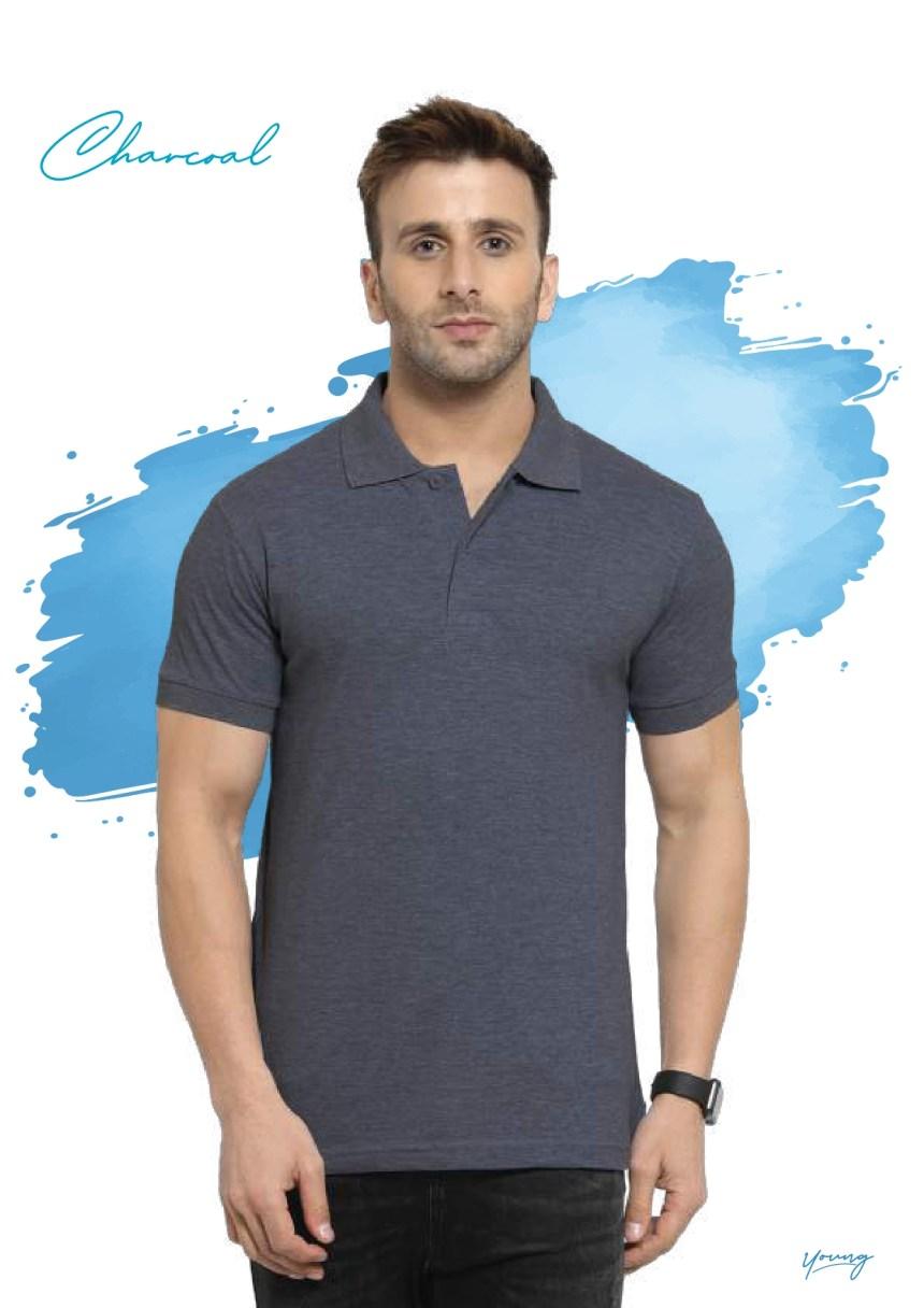 Scott young charcoal grey 220 gsm cotton t-shirt supplier in Chennai- Rsm Uniforms Chennai