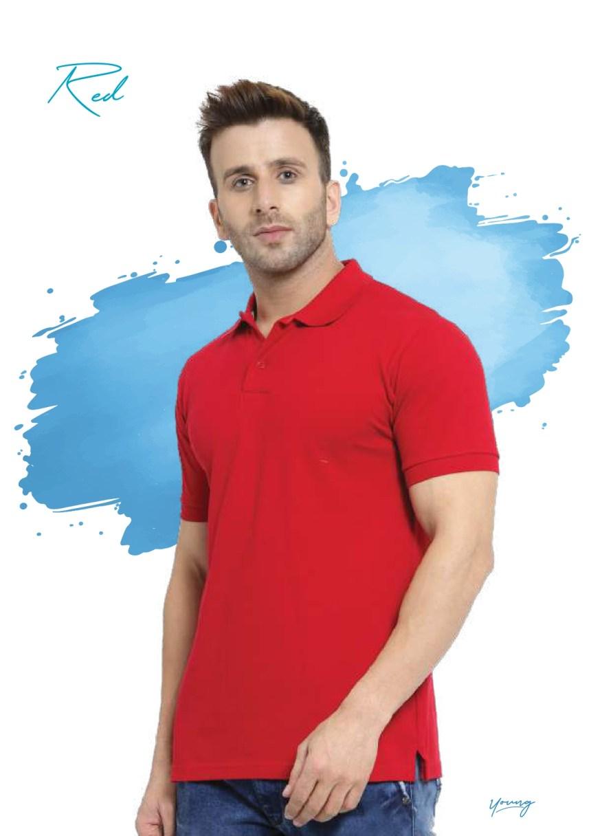 Scott young red t-shirt in Chennai- Rsm Uniform Chennai