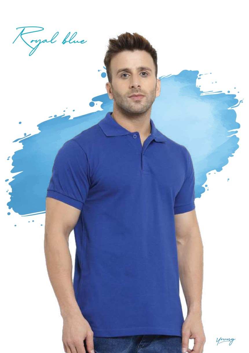 Scott young royal blue t-shirt in Chennai- Rsm Uniform Chennai