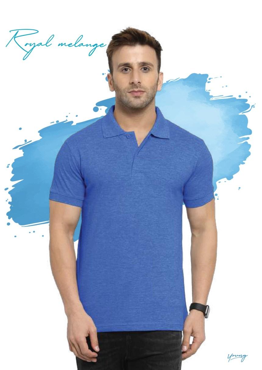 Scott young royal melange t-shirt in Chennai- Rsm Uniform Chennai