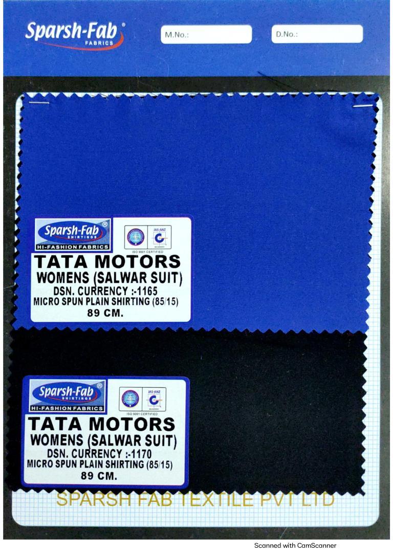Tata motors salwar suits for womens uniforms in India