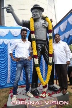 Prabhu Deva Inaugurate Michael Jackson Granite Statue Photos