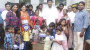 Actor Vishal celebrate diwali at Crost Whit Home