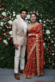 Arya - Sayyesha Reception Photos 3