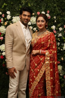 Arya - Sayyesha Reception Photos 7