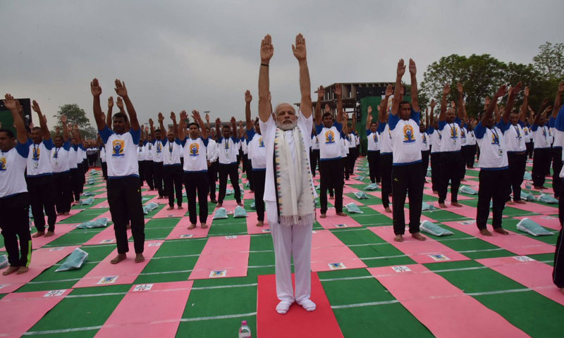 Led by PM Modi, India celebrates World Yoga Day