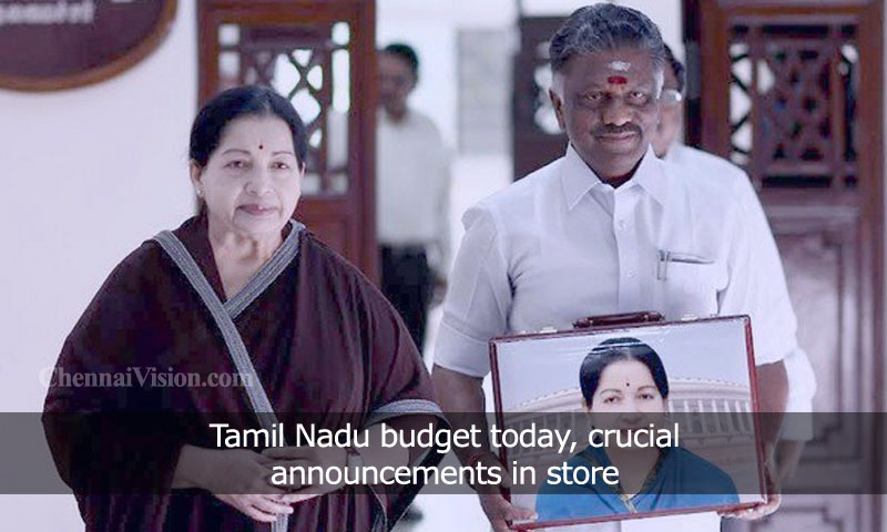 Tamil Nadu budget today, crucial announcements in store