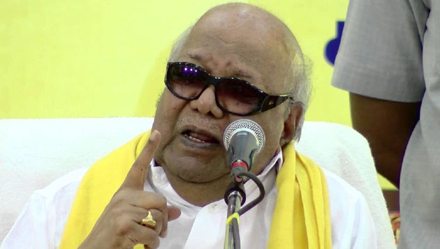 DMK won't get cowed down by AIADMK or cops: Karunanidhi