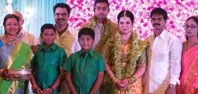 Grand wedding for Raadhika's daughter with cricketer