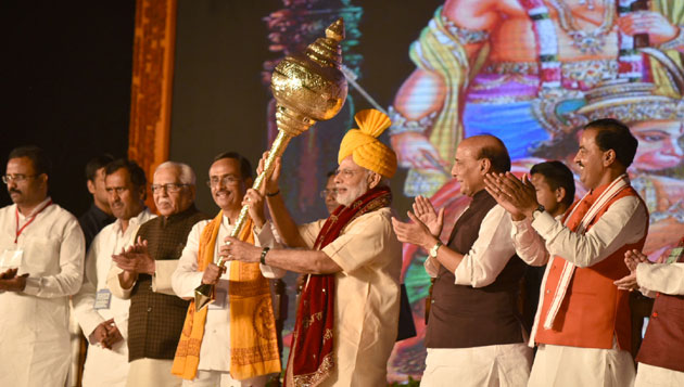 Narendra Modi addresses gathering at Dussehra Mahotsav, Lucknow