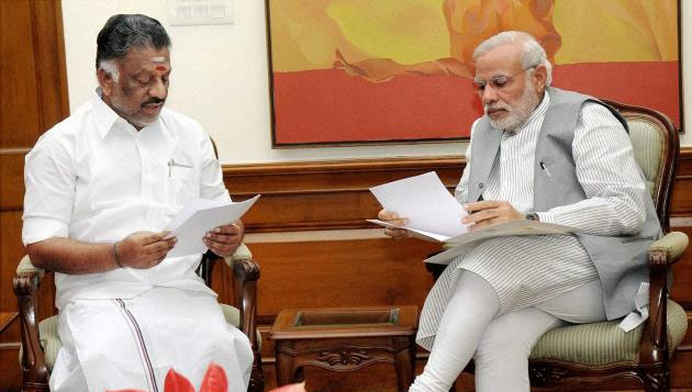 OPS writes to Modi, seeking Rs 1,000 crore for relief works