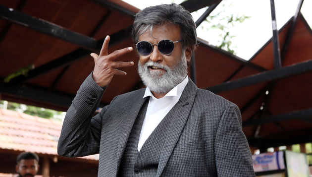 Protest in Lanka supporting Rajini