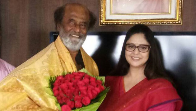 Actress Nagma meets SuperStar Rajinikanth