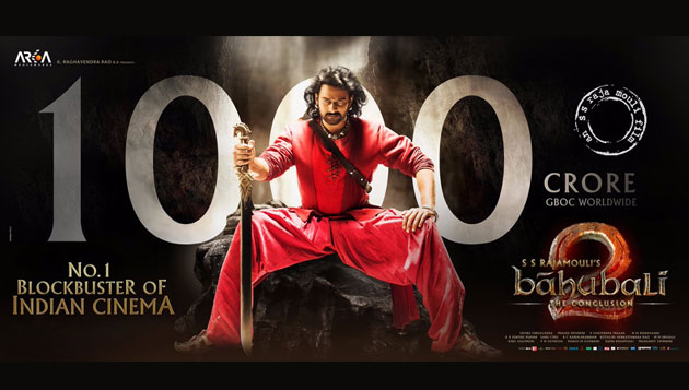 Baahubali 2 crosses Rs 1,000 crore, Prabhas gets emotional