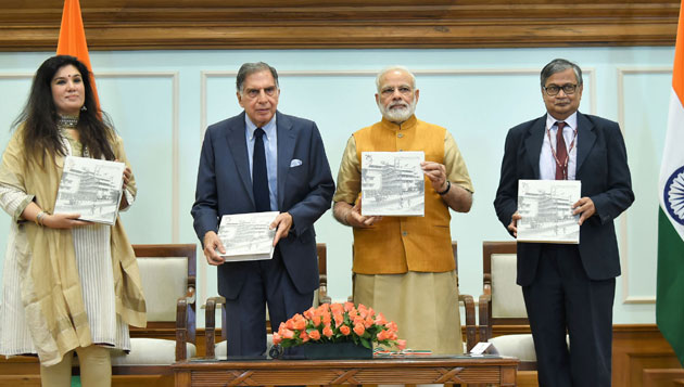 PM releases Platinum Jubilee Milestone book on Tata Memorial Centre