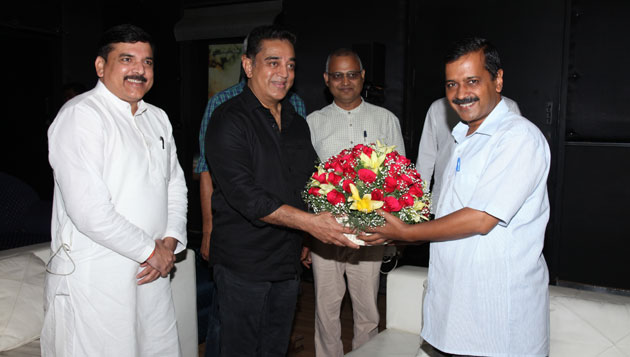 After meeting Kejriwal, Kamal says he is ready to serve as TN CM