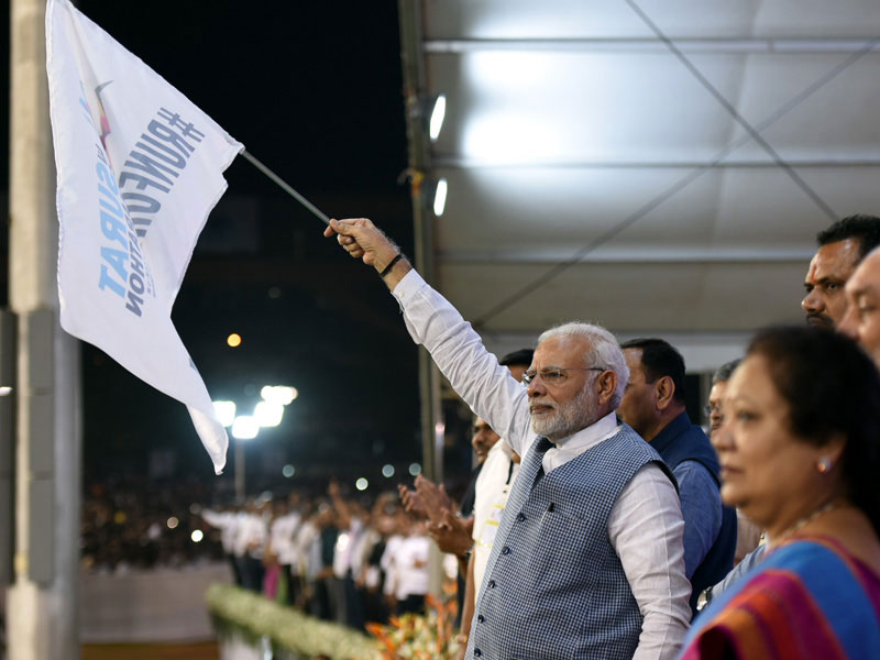 Excerpts From PM'S Address At The Programme Marking The Start Of The Surat Marathon
