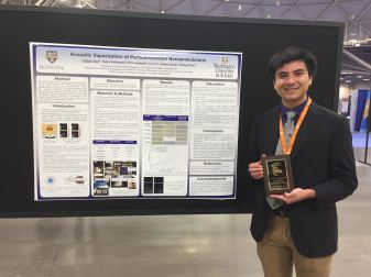 Tristan received the Society for Biomaterials Drug Delivery Special Interest Group Student Research Award