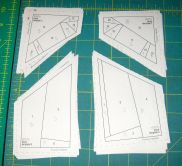 I labelled my templates after a slight disaster that necessitated recutting.