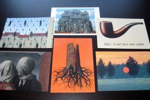 Magritte postcards