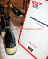 Cherie du Vin Clos des Goisses 2003 photo c. paige donner 1