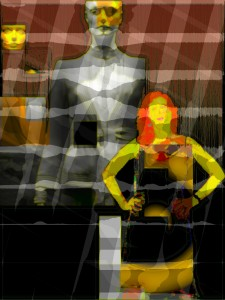 Societal projection androgenous manikin and real self